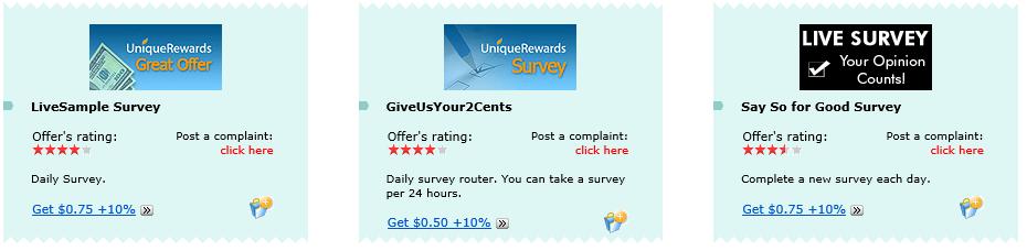 what is the unique rewards