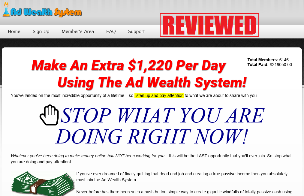 What is the Ad Wealth System