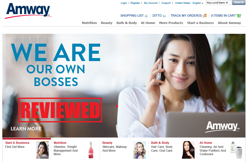 what is the amway scam