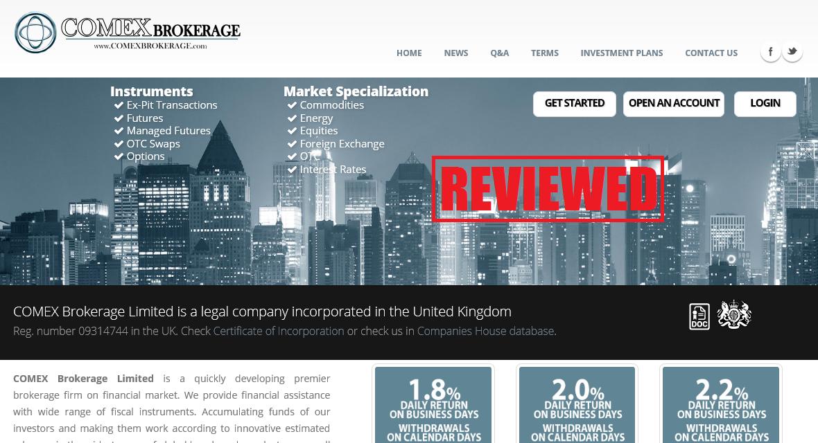 Comex Brokerage Review