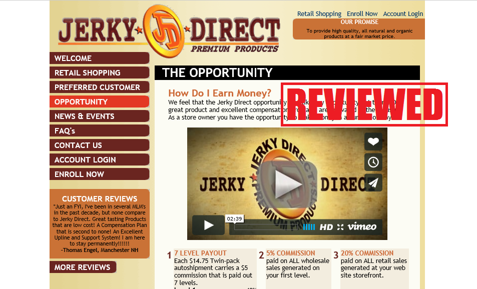 what is the jerky direct