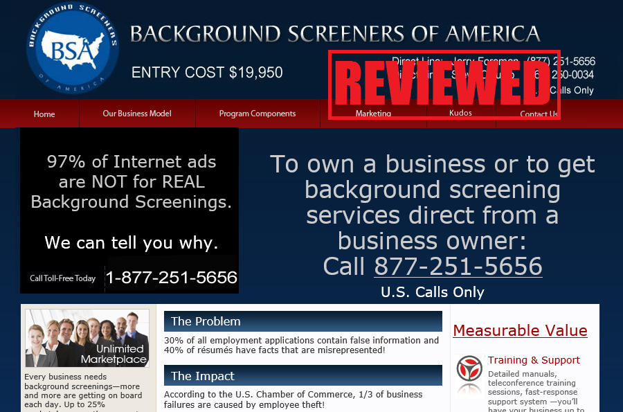 what is the Background Screeners of America