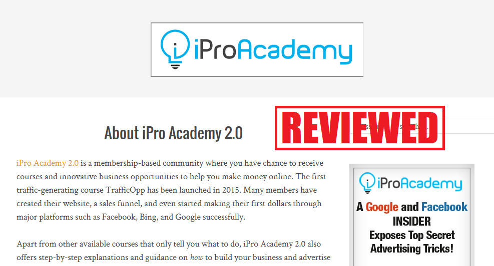What is the iPro Academy 2.0