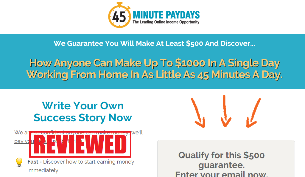 What is the 45 Minute Paydays