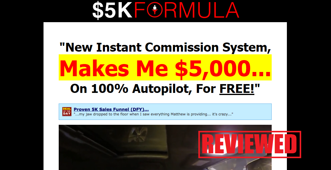What is the $5K Formula System