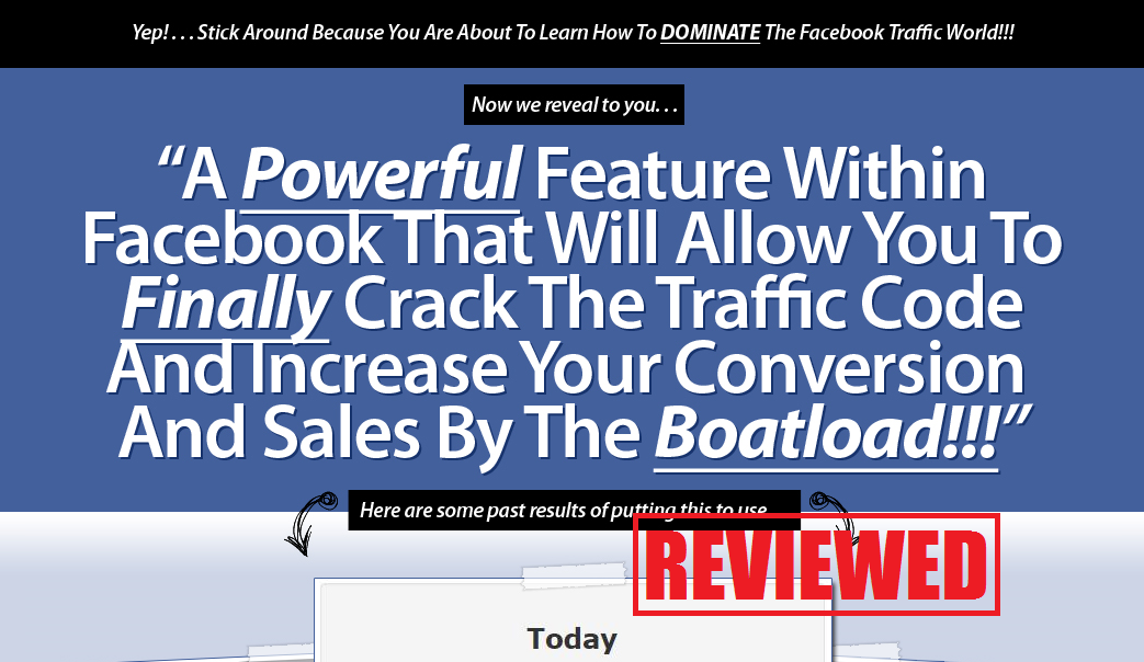 What is the Facebook Traffic Domination