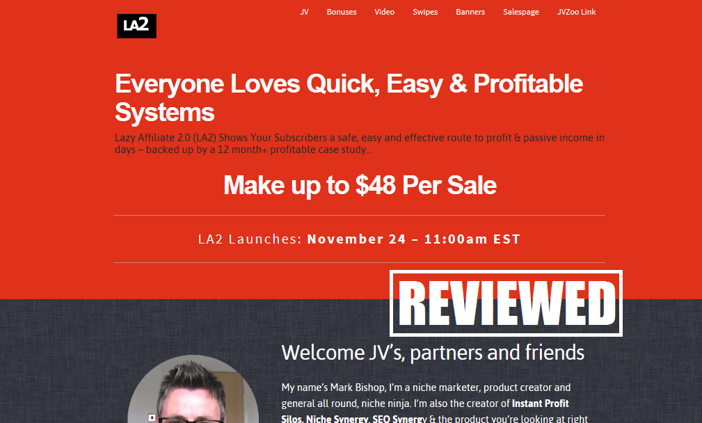 What is the Lazy Affiliate 2.0