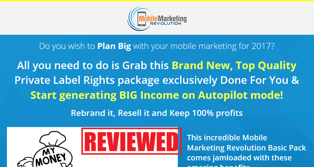 What is the Mobile Marketing Revolution PLR