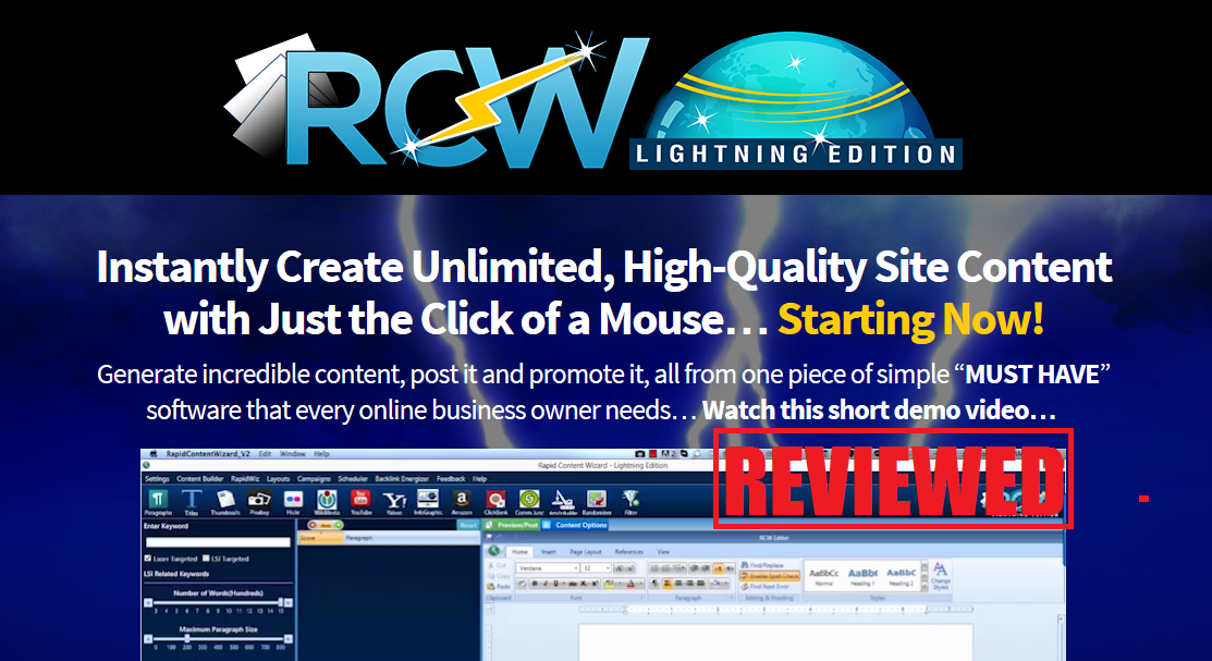 Rapid Content Wizard Lightning Review