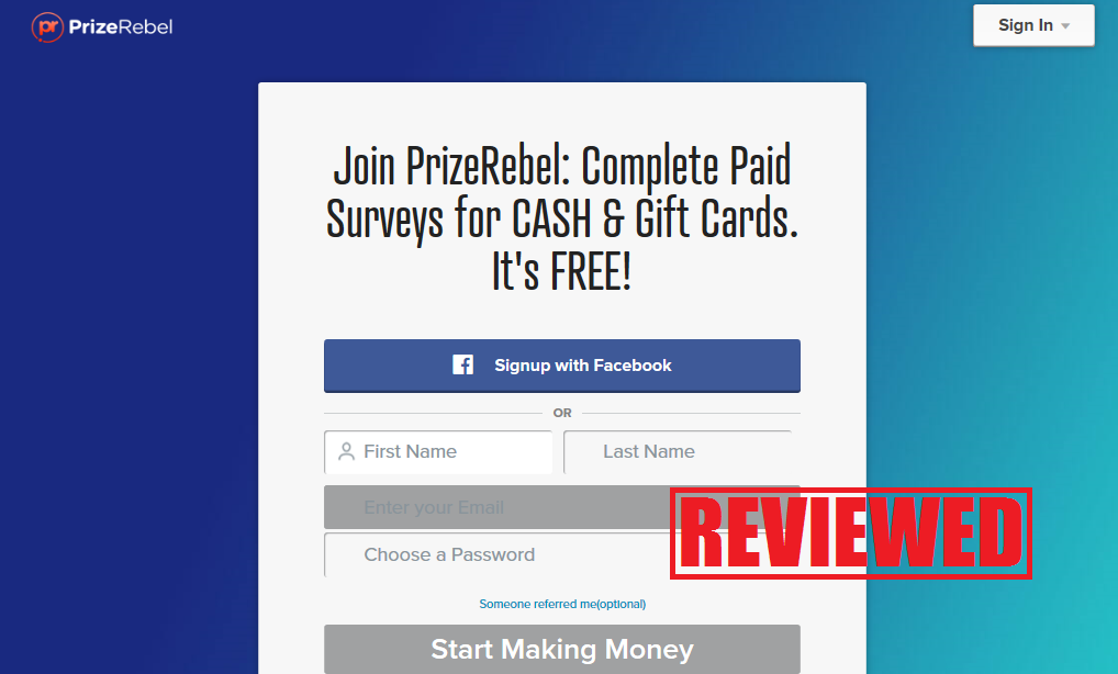 What is the PrizeRebel