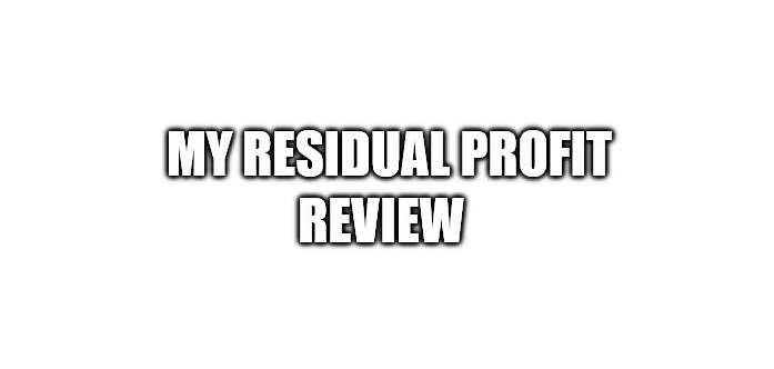 What is My Residual Profit About