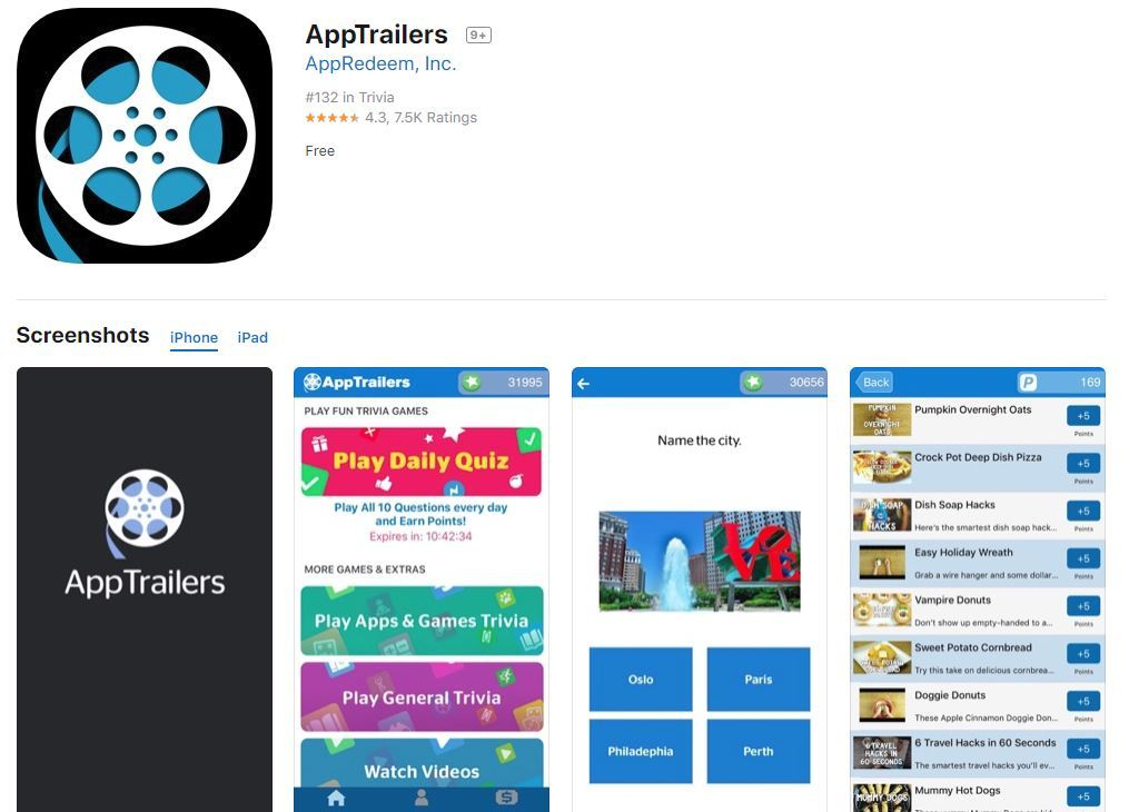 App Trailers Review